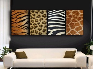 living-room-with-african-decor-use-animal-skin-as-wall-decoration